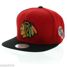 New NHL Mitchell & Ness - Chicago Blackhawks - Team All-Star Patch Red Snapback