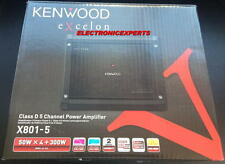 KENWOOD EXCELON X801-5 Complete System Car Audio 5 Channel Amplifier 4ch + Mono