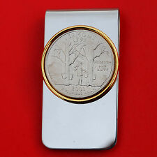 US 2001 Vermont State Quarter BU Uncirculated Coin Two Toned Money Clip New