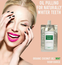 Oil Pulling Teeth Whitening Coconut Pearls Mint 10 day course cocowhite