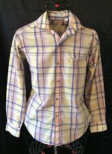 VNTG USA Flying Scotsman Cotton Plaid Button/Collared Tailored Shirt Mens Sz S