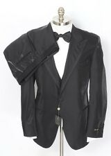 CORNELIANI Black Striped Wool 3PC Tuxedo Tux Suit 56 7R 46 46R fits 44R NWT!