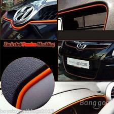 "Car Interior Exterior Decoration Moulding Trim Strip Line Orange 120"" UK SELLER"