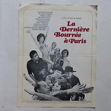 Scenario cinéma La derniere bourrée a Paris BLANCHE ANNIE CORDY GALABRU DAX