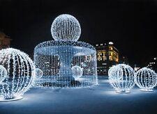 Blanc 10M 100 LED Guirlande Xmas Parti Lumière Lampe Déco Exterieur Noël Fete