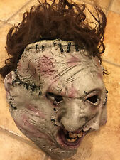 RUBIES TEXAS CHAIN SAW MASSACRE HALLOWEEN MASK ZOMBIE MONSTER MAD MAN SCAR FACE