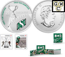 2012 'Saskatchewan Roughriders' CFL Colorized 25-Cent Coin and Stamp Set (13045)