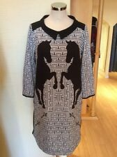 James Lakeland Dress Size 10 BNWT Stone Cream Black RRP £179 Now £62