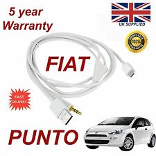 Fiat PUNTO For Samsung HTC Sony Micro USB 3.5mm Aux Audio Cable white