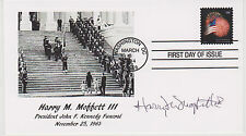 SIGNED HARRY M. MOFFETT III FDC AUTOGRAPHED FIRST DAY COVER JFK FUNERAL