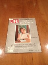 LIFE Magazine The Intimate Recollections of Stalin's Daughter September 15 1967
