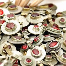 60 real Jeweled COINS Tribal BellyDance Kuchi Tribe - DEEP RED Color