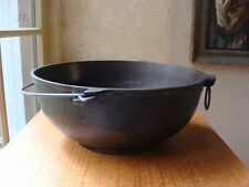 Antique Griswold Scotch Bowl Erie #3 781 Cast Iron w/Handle and Ring