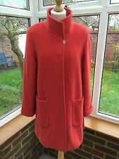 Basler Dark Coral / Poppy Red Wool & Angora Mix Winter Coat  Size 10, Stunning