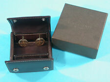 Patek Philippe 18K Gold Calatrava Cufflinks with New Travel Case