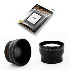 Wide + Telephoto Lens Kit + LCD Screen Protector for Nikon D3100 AF 50mm f/1.4D