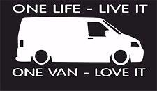 One life,One van T1 T2 T3 T4 T5 T6 surf car JDM VW VAG EURO Vinyl Decal Sticker