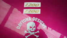 1200 GOLD SEAT UNIT TANK SIDE FAIRING CUSTOM PAIR DECALS STICKERS