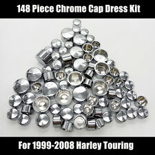148 Piece Chrome Dress Kit fit 99-08 Harley Touring Huge Full Bolt & Nut Cap Set