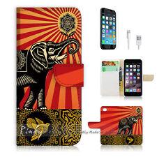 iPhone 7 PLUS (5.5') Flip Wallet Case Cover P0246 India Elephant