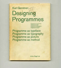 1968 Karl Gerstner Inscribed copy DESIGNING PROGRAMMES Swiss Graphic Design Book