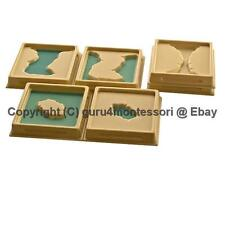 NEW Montessori Geography Material- 1st Set of Land and Water Form Trays