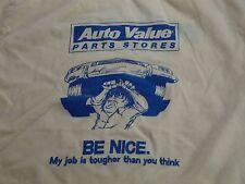 Vintage Auto Value Parts Store Hot Rod Bond Car Mechanic Gasser racing T Shirt M
