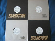 "15x12"" LOT Brainstorm Roots Trans Former Techno & Clubsound Italy records 