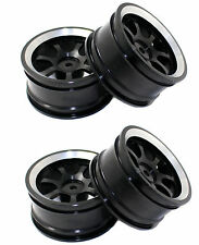 1/10 RC model On-Road car Aluminum wheel rims BLACK 7-spoke Metal Rims HSP 107