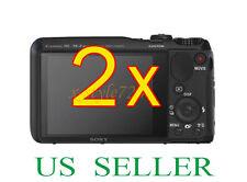 2x Sony CyberShot DSC-HX20V Clear LCD Screen Protector Guard Film