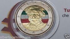 2 euro 2013 Italia smaltato colorato italie italien italy 200 anni VERDI II topo