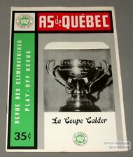 1963-64 AHL Quebec Aces Playoff Program Calder Cover