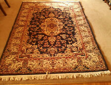 Oriental/Persian Style Rug  7.5 x 5.25 ft.  Multi-color/main Dark Blue