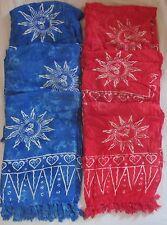Lot of 6 Batik Sarong Sun Design Wrap Swimsuit Coverup Full Size US Seller