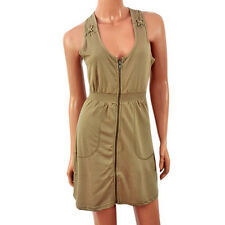 Brave Soul Size Small Womens Ladies Olive Green Military Dress