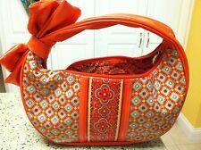 Vera Bradley Retired Paprika Frill Hobo Style Bag NWOT