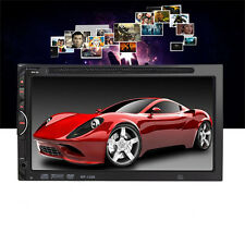 "Bluetooth Car Stereo 6.95"" LCD Touch Screen DVD MP3 Radio Player 2 Dins In-dash"