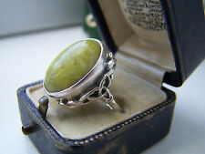 GORGEOUS VERY RARE VINTAGE STERLING SILVER CONNEMARA MARBLE RING LARGE SIZE V