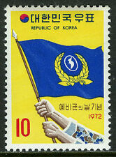 Korea 816, MI 830, MNH. Homeland Reserve Forces Day. Flag, 1972