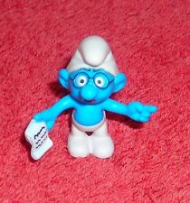 "SMURFS BRAINY SMURF 1.5"" TOY FIGURE CAKE TOPPER"