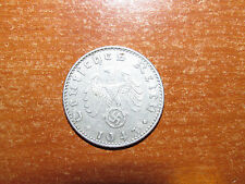 Nazi Germany 1943 J 50 Reichspfennig coin Very Fine nice