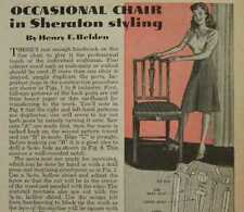 Sheraton CHAIR Dining Occasional How-To Build PLANS