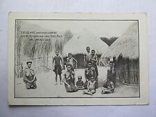 POSTCARD ZULULAND ANOTHER COUNTRY WHERE REXONA & LAXO TONIC PILLS USED c1910