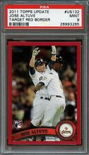 2011 topps update target red border #us132 JOSE ALTUVE rookie card (POP 3) PSA 9