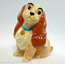 Disney Lady and the Tramp Ceramic Figurine Vintage Porcelain China Lady Dog RARE