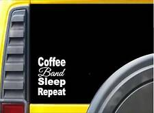 Coffee Sleep Band K842 8 inch Sticker Music instrument decal