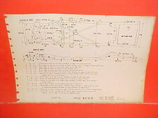 1956 BUICK SPECIAL CENTURY CONVERTIBLE COUPE SEDAN WAGON FRAME DIMENSION CHART