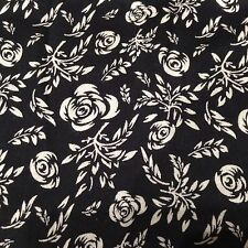 Premium Quality Printed Soft BLACK Viscose Rayon Cotton Loose Fabric Material