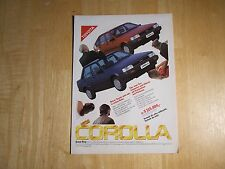 TOYOTA COROLLA 1983 POSTER ADVERT READY TO FRAME A4 SIZE