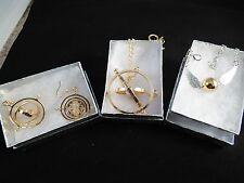 USA-3pc Harry Potter,Time Turner,Necklace & earrings,plus Snitch bracelet,